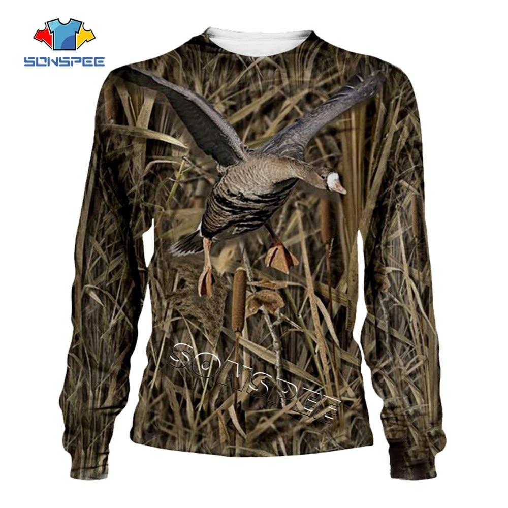 Hunting Camo Wild Duck 3D Print Hooded Sweatshirts Unisex Fashion Casual Streetwear Long Sleeve Hoody Shirts Hip hop Men Hoodies (2)