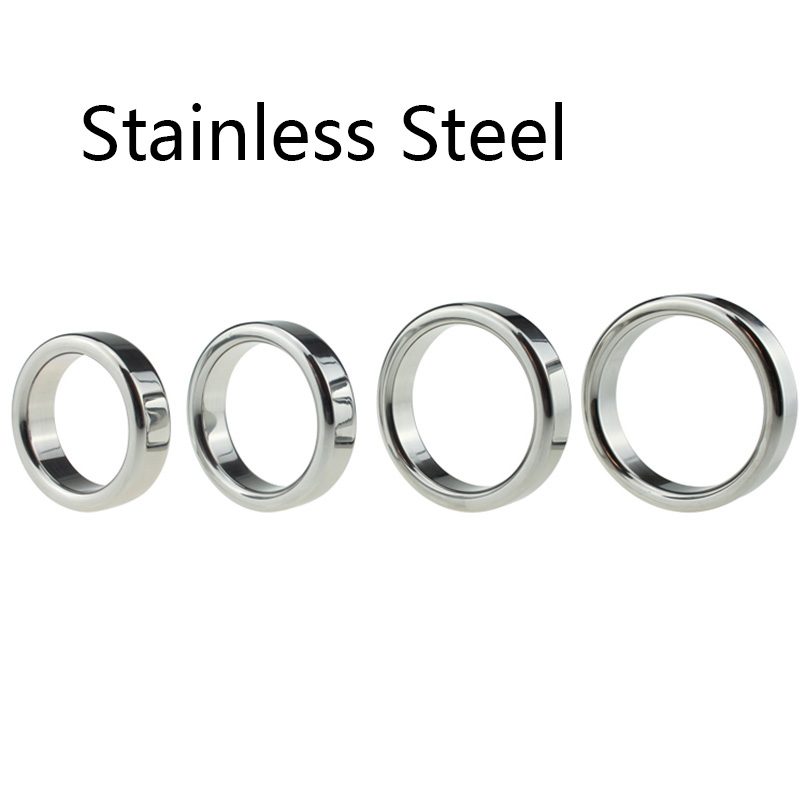 1PCS Metal Penis Rings Sleeves Cockring Delay Cock Ring S&M Sex Toy Male Sex Products For Couple Men Male Chastity Belt Sex Ring