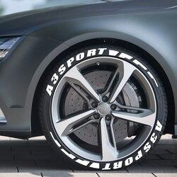 3D Permanent Rubber Letters Car Tyre Stickers For Audi A3 8P S3 8V 8L Sportback E-Tron Limousine Sport Car Accessories