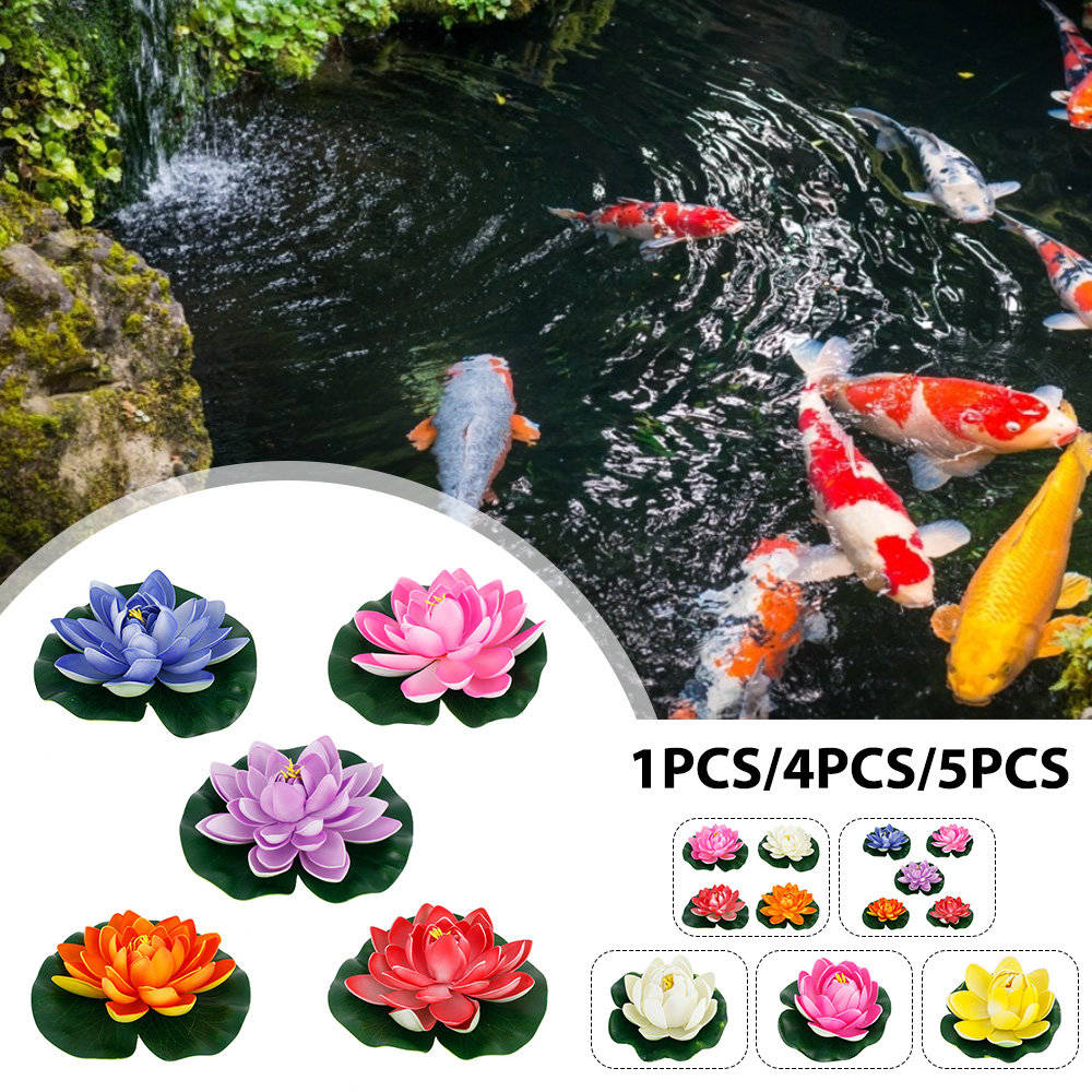H8e25f994fe4142c699e36c990b250fa9D - Simulation Lotus Water Lily Decoration Pond Swimming Pool Suitable For Indoor And Outdoor Applications Garden Water Decoration
