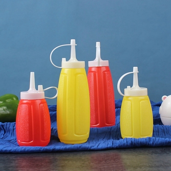 2 uds. Exprimible botella de salsa de plástico, botella de ensalada de tomate, botella de ensalada, botella de ensalada, exprimidor, olla de salsa