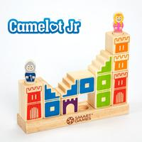 Smart Games Camelot Jr 3 D Wooden Puzzle Hardwood Game tray, 4 towers, 3 stairways, 1 bridge and 2 figurines Toy