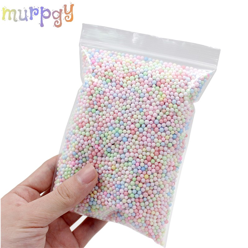 One Pack Snow Slime Balls Accessories Foam Additives Slimes Beads All For Slime Foam Filler Charms Clay Diy Lizun Craft Supplies