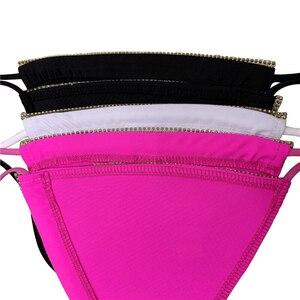 Image 5 - Maillot de bain luxueux avec strass et diamants, soutien gorge Push Up, col licou, Bikini, ensemble deux pièces, Sexy, 2020, maillot de bain bandeau