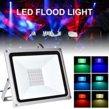 New 50W/100W LED RGB Flood Light Led RGB Flood Light 220V Outdoor Floodlight IP65 Waterproof LED Lamp Flood Light powerful 4 lighting modes ip65 waterproof emergency led work lamp 100w portable rechargeable led flood light