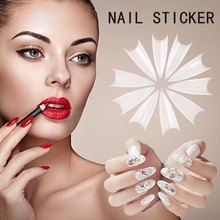 100PCS/Box Fake Nails Tips Natural /Clear/White Stiletto Sharp French Artificial Acrylic False Design faux ongles