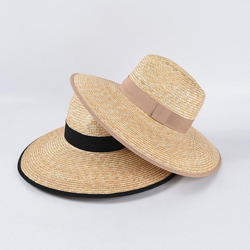 2020 New Fashion Floppy Straw Hat UPF 50+ Modern Adjustable Beach Sun Hat Jazz Summer Hats Wide Brim Kuntucky Derby Hat UPF50+