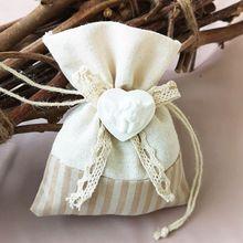 Small Gift Drawstring Candy Bag Holder Pocket For Wedding Holiday