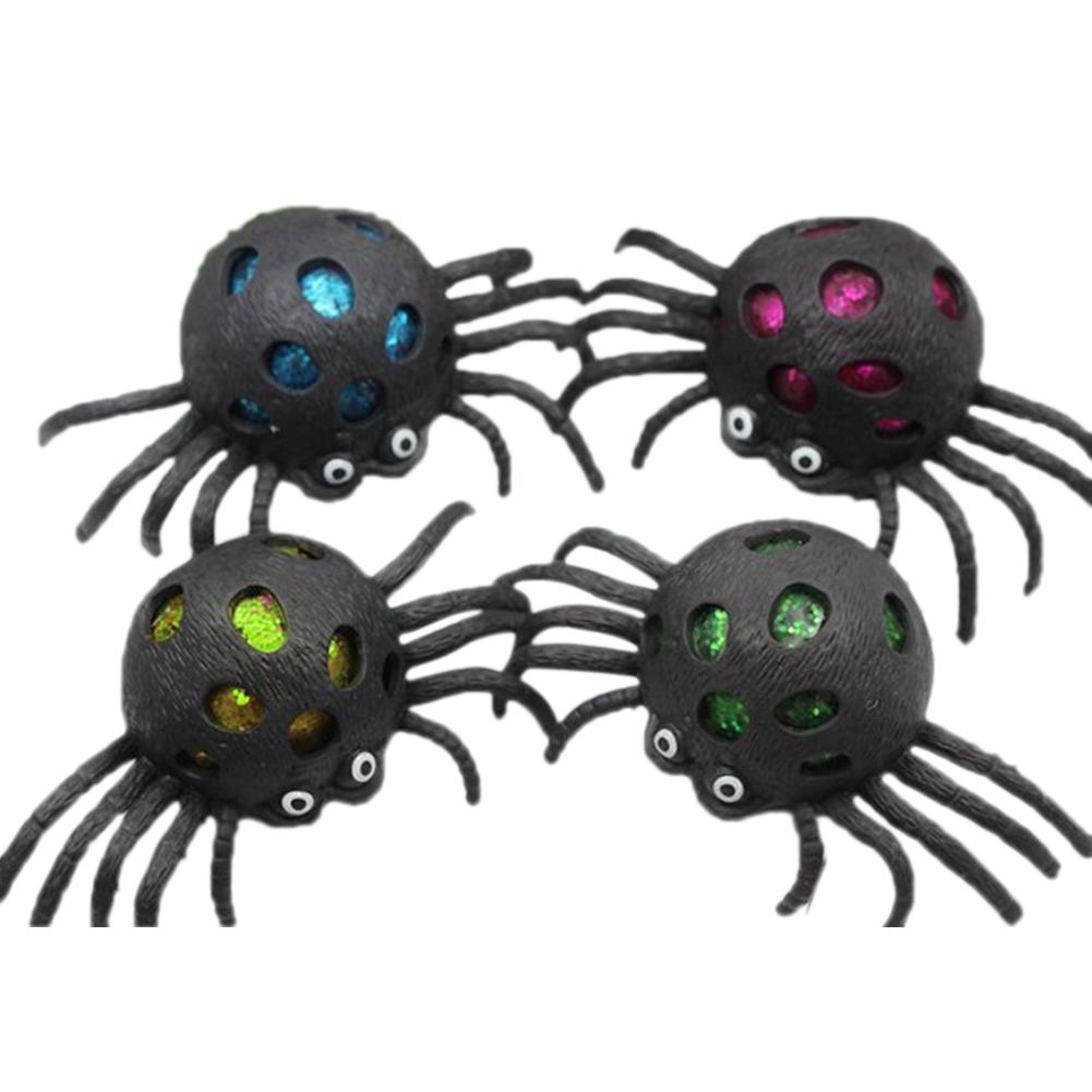 1 PCs Decompression Toy Bright Color Spider Vent Toy For Releasing Stress Vent Ball For Relaxing ( Color Random )