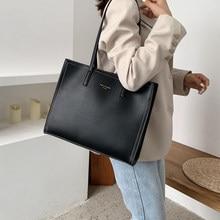 Grand Sac à Main de luxe pour femmes, sacoche de styliste pour ordinateur portable en cuir, couleur unie, fourre-tout à bandoulière, 2020