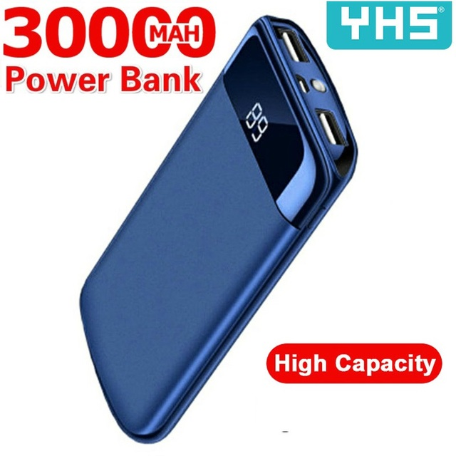 30000mah Power Bank For Xiaomi Samsung iphone 7 8 X  External Battery PoverBank USB LED Powerbank Portable Mobile phone Charger 1