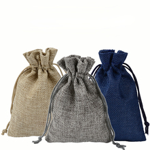 24pcs Jute Linen Candy Gift Bags Wedding Drawstring Bags Jewelry Storage Bag Pocket Christmas Gift Packaging Bags DIY Gift Pouch 10x14cm linen cotton drawstring bag jewelry bag decorative bags christmas wedding gift pouch product packaging bags