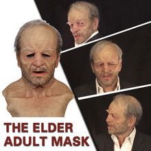 Unisex Masque Halloween Party Full Face Mask The Elder Old Man Headgear For Masquerade Party Halloween Old Man Adult Mask #922 cheap CN(Origin) Masks Costumes face cover emulsion Washable Reusable Facemask Mouth-Muffle Mouth Cloth Mask Face mask for kids girls
