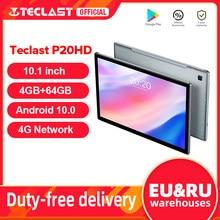 Dernier modèle de tablette Teclast P20HD Android, lot de 10 tablettes PC 4G LTE, 10.1 pouces, 4GB, RAM, 64GB, ROM 1920x1200 SC9863A avec GPS