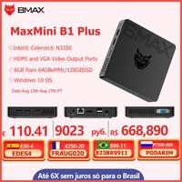 BMAX B1 Plus Mini PC Intel Core 6GB RAM 64GB EMMC/128GB SSD N3350 Dual Core computadora de escritorio PC Intel HD Graphics 500 WIFI Win10