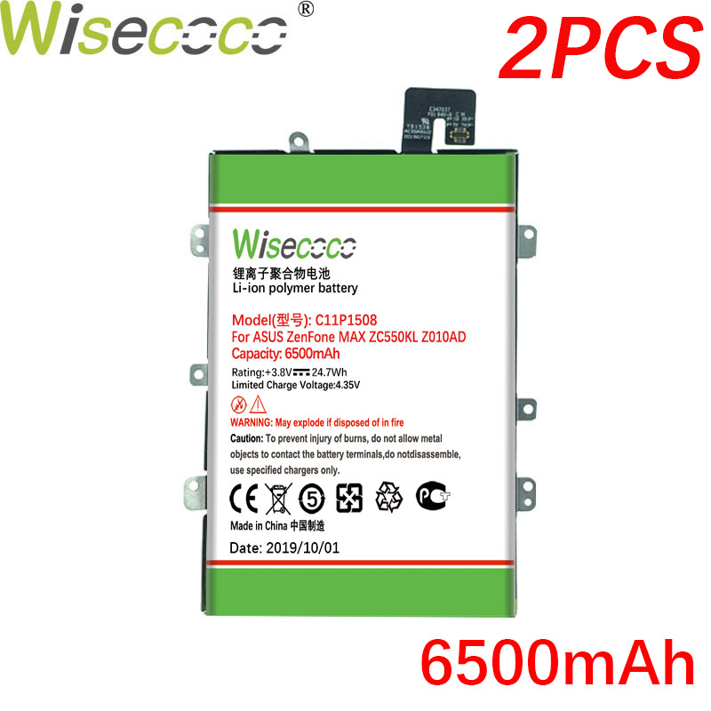 Wisecoco 2PCS/LOT C11P1508 Newly Produced <font><b>Battery</b></font> For <font><b>ASUS</b></font> Zenfone Max ZC550KL Z010AD Z010DD <font><b>Z010D</b></font> Z010DA Phone Built-in <font><b>Battery</b></font> image