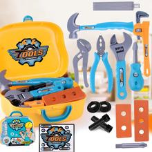 Children's Toolboxes Engineer Simulation Repair Tools Toy Ax Carpentry Drill Screwdriver Repair Kit Play Toy Set for Kids Gift