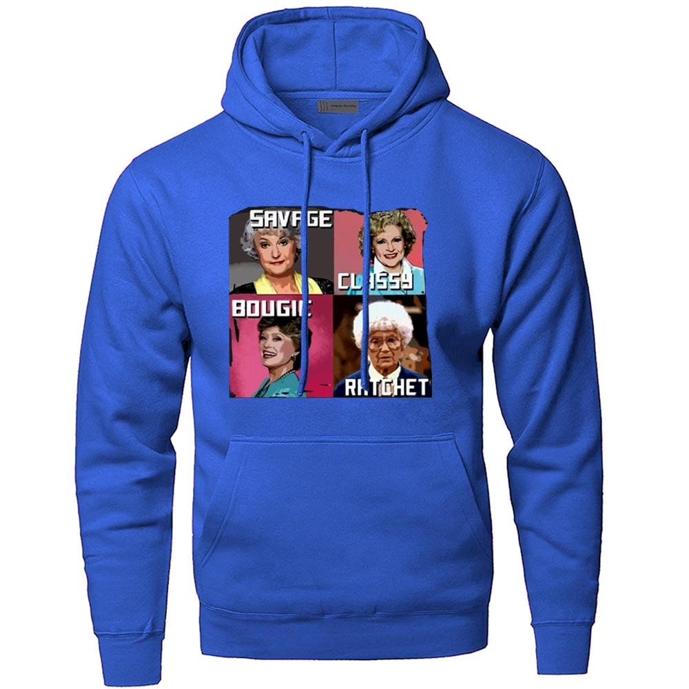 Four Beautiful Lady Savage Classy Bougie Pullover Hoodies Top Men Warm Fitted Hoodie Winter Street Casual Printed Sweatshirt 3