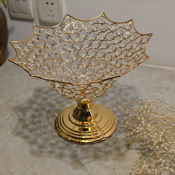 Kreatywny kryształowy owoc talerz z tworzywa sztucznego z podstawą talerz na owoce talerz suszone talerz na owoce talerz na przekąski tanie i dobre opinie Europa Miłość Home Decoration Weddings Parties Special Events Table centerpieces