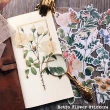 40 шт/упак Винтаж калька Бумага с большим цветком и иллюстрации