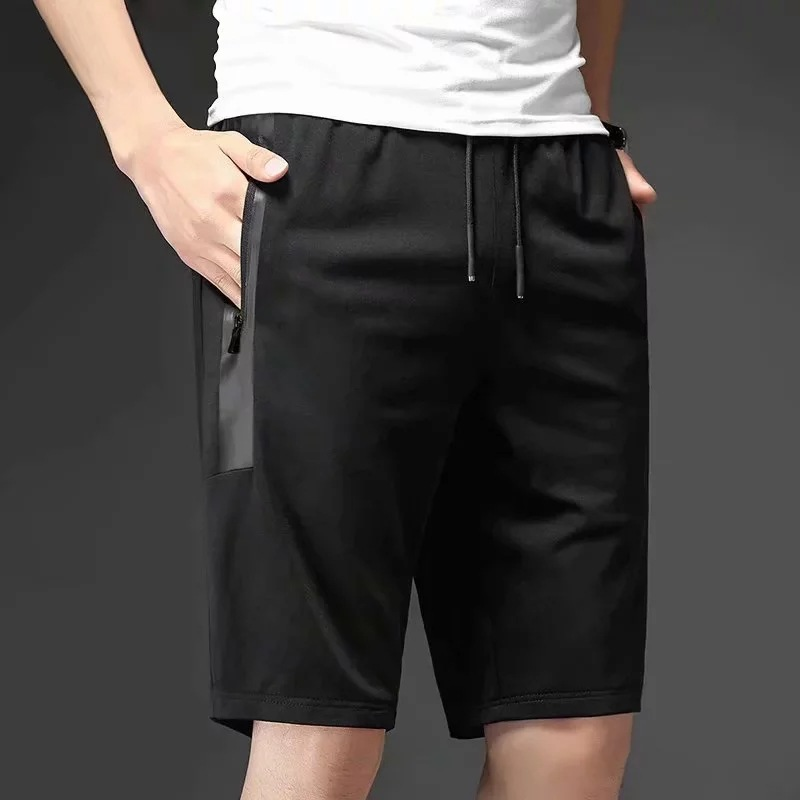 Summer Sports Shorts Men's Loose Casual Pants Thin Short Breeches Semi-Shorts Trend Loose And Plus-sized