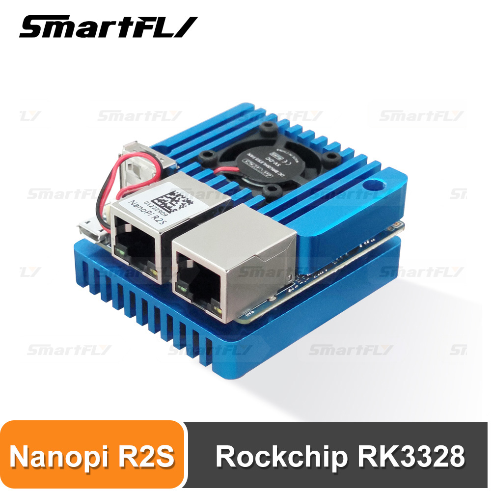FriendlyElec Nanopi R2S Mini Portable Travel Router OpenWRT With Dual-Gbps Ethernet Ports 1GB DDR4 Based In RK3328 Soc For IOT