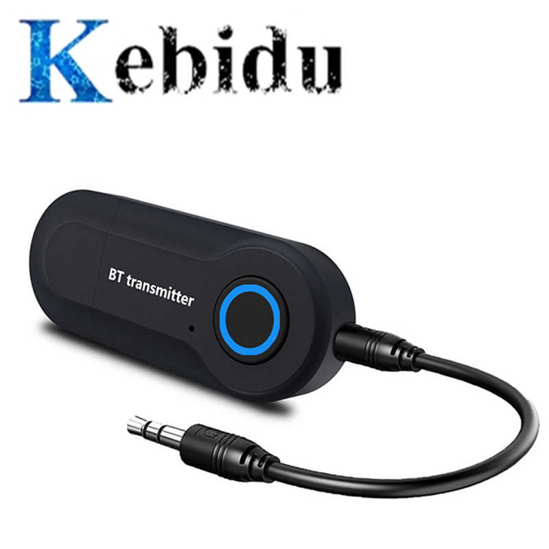 Kebidu Bluetooth Zender 3.5 Mm Jack Audio Adapter Draadloze Bluetooth Stereo Audio Transmitter Adapter Voor Tv Hoofdtelefoon