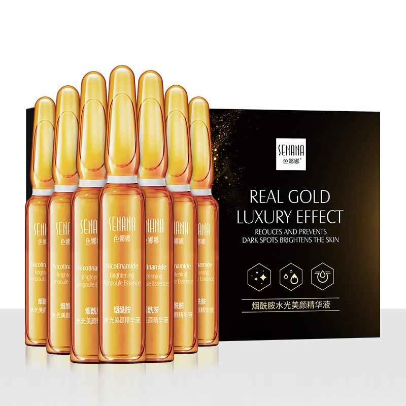 SENANA  7pc/Box Niacinamide Whitening Face Serum Ampoule Moisturizing Anti-Aging Wrinkle Lifting Firming Skin Essence TSLM2