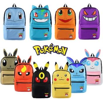 Anime Pokemon Haunter Eevee Bulbasaur Canvas Backpack Students Shoulders Bag Pocket Monster Haunter Schoolbags Laptop Bags new anime rick and morty backpack anime bags student oxford schoolbags