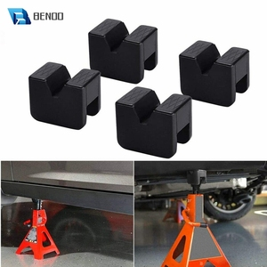 BENOO 4PCS Universal Rubber Slotted Jack Pad Jack Lift Pad Adapter Tool Adapter Jack Stand for 2-3 Ton Frame Stand Rail Pinch
