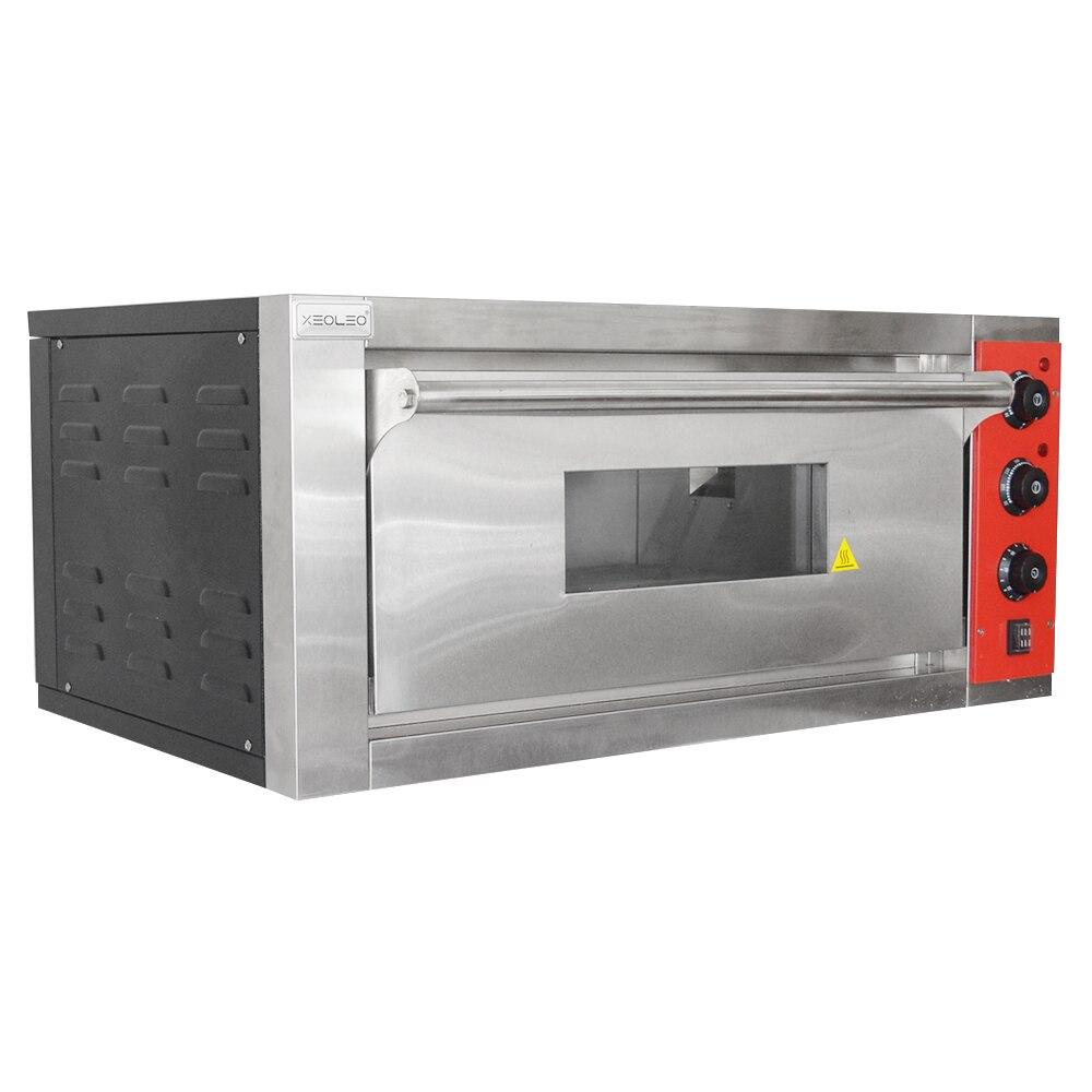 XEOLEO horno de Pizza máquina horno de pan horno eléctrico comercial de acero inoxidable hornos eléctricos con pizarra 220/380V 4200W - 6