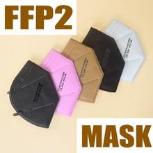 Masque buccal 6 couches CE FFP2, masque de sécurité, doux, Filtration 95%, pm2.5, masque anti-poussière