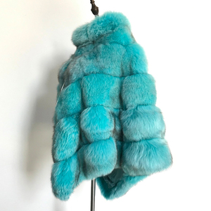 Image 4 - BFFUR Echtpelz Fuchs Mantel Für Frauen Top Qualität Natürliche Pelz Mantel Ponchos und Capes Ganze Haut Bedeckt Frauen Winter mode Mäntel