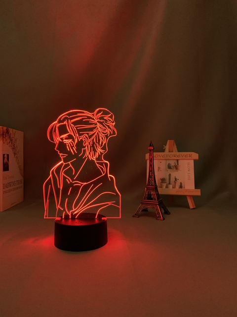 16 COLOR WITH REMOTE EREN YEAGER 3D LED LAMP