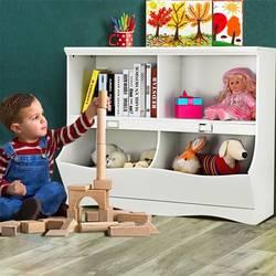 Детский белый книжный шкаф Органайзер для игрушек из цельного дерева легкий книжный шкаф для хранения элегантный дизайн