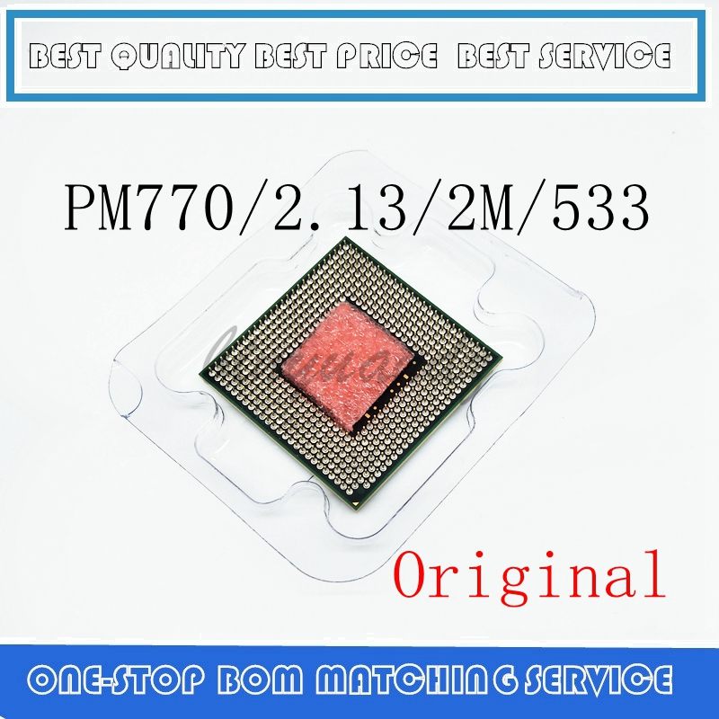 CPU Laptop Pentium M 770 CPU 2M Cache/2.13GHz/533/Dual-Core Socket 479Laptop Processor PM770 Support 915 1 4.