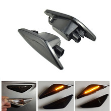 2pc LED Dynamic Turn Signal Light Side Fender Marker Lamp Sequential Indicator Light For BMW X3 F25 X5 E70 X6 E71 E72 2008-2014 2 pieces led dynamic sequential side marker light flowing turn signal indicator for bmw x3 f25 x5 e70 x6 e71 activehybrid x6 e72