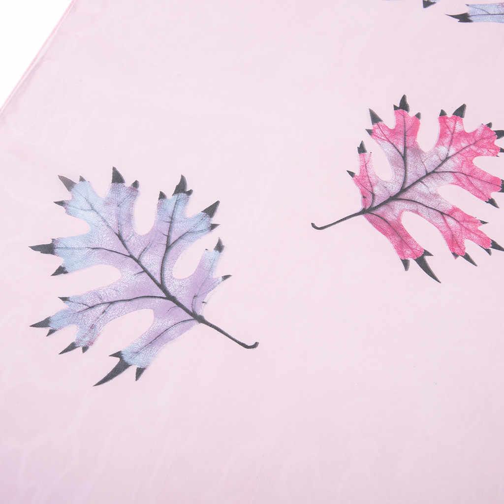 Sleeper # P501 2019 NUOVE Donne di MODO Maple Leaf Stampa Lunga Molle Dell'involucro Delle Signore Scialle Sciarpa di Inverno Sciarpe Schal elegante cachecol