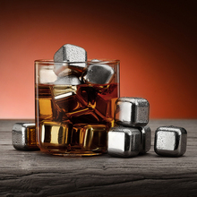 3000pcs kfse 143 4 8 12 16 20 24 28 32 broaching standoffs stainless steel nature pem standard in stock factory wholesales Whisky Stones 4/6/8 PCS Stainless Ice Stainless Steel 304 Whisky Stones Ice Cubes In Package Whiskey Wine Reusable Ice Cubes