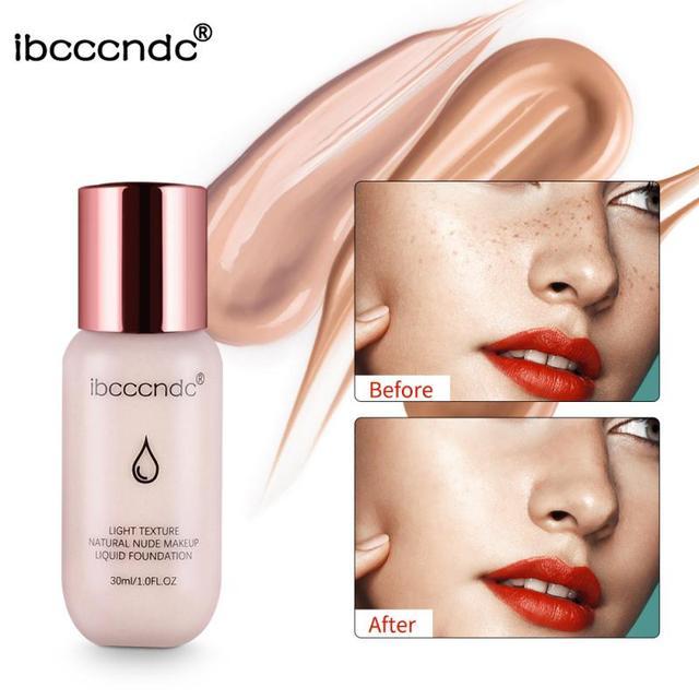 Base líquida Ibcccndc 6 colores Base Mineral blanqueadora crema Base Facial iluminar maquillaje Facial Primer TSLM2 ordinario
