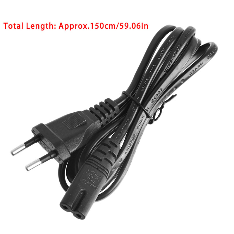 1.5m EU 2pin Plug Fig 8 Female C7 AC Power Connector Cable Lead Cord For PC NEW