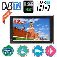 Leadstar 12 インチポータブルミニテレビサポート dvb-t/T2/H265/hevc ドルビー Ac3 1280*800 tf カードホーム/車と車の充電器車のマウント