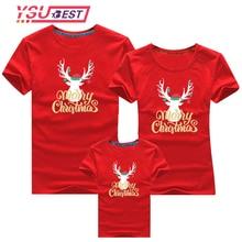 Футболка с рождественским оленем для мамы, папы и детей; одежда для рождественской вечеринки; Семейные комплекты; модная одежда; топы; футболки