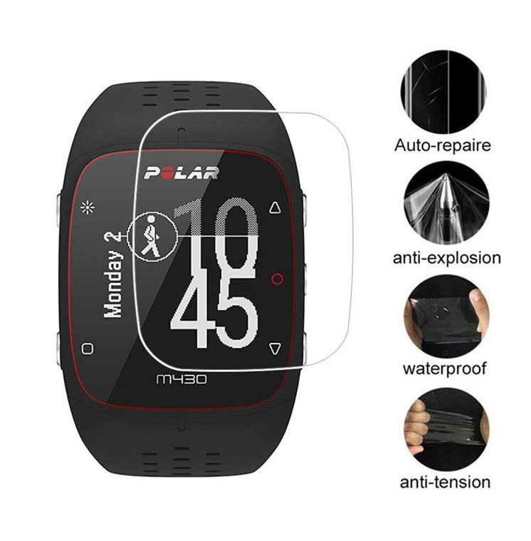 3pcs Soft Clear Protective Film Guard For Polar M400 M430 Watch Sport Smartwatch Screen Protector Cover Protection (Not Glass)