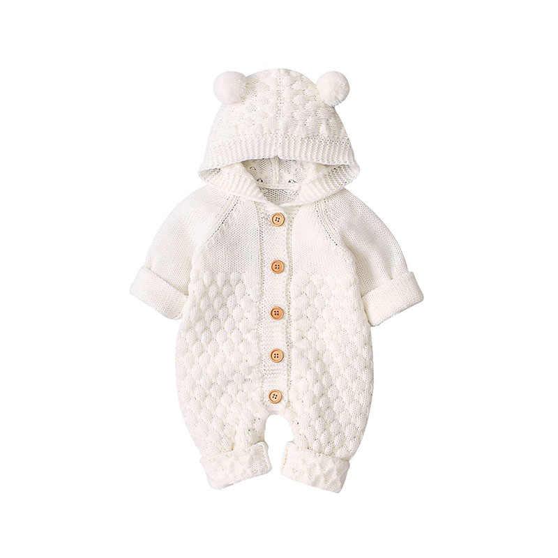 0 ~ 2T אביב סתיו חדש נולד תינוק בני מצולעים סרוג סרבל לילדה פעוטות תלבושות תינוקות בגדים bebe סרבל תינוקות Vetement