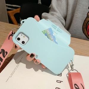 Image 4 - IPhone 6s için 6 8 7 artı 11 11Pro Max X XR XS Max telefon kılıfı FHX LY güzel 3D kamera yumuşak silikon crossbody askısı telefon kılıfı