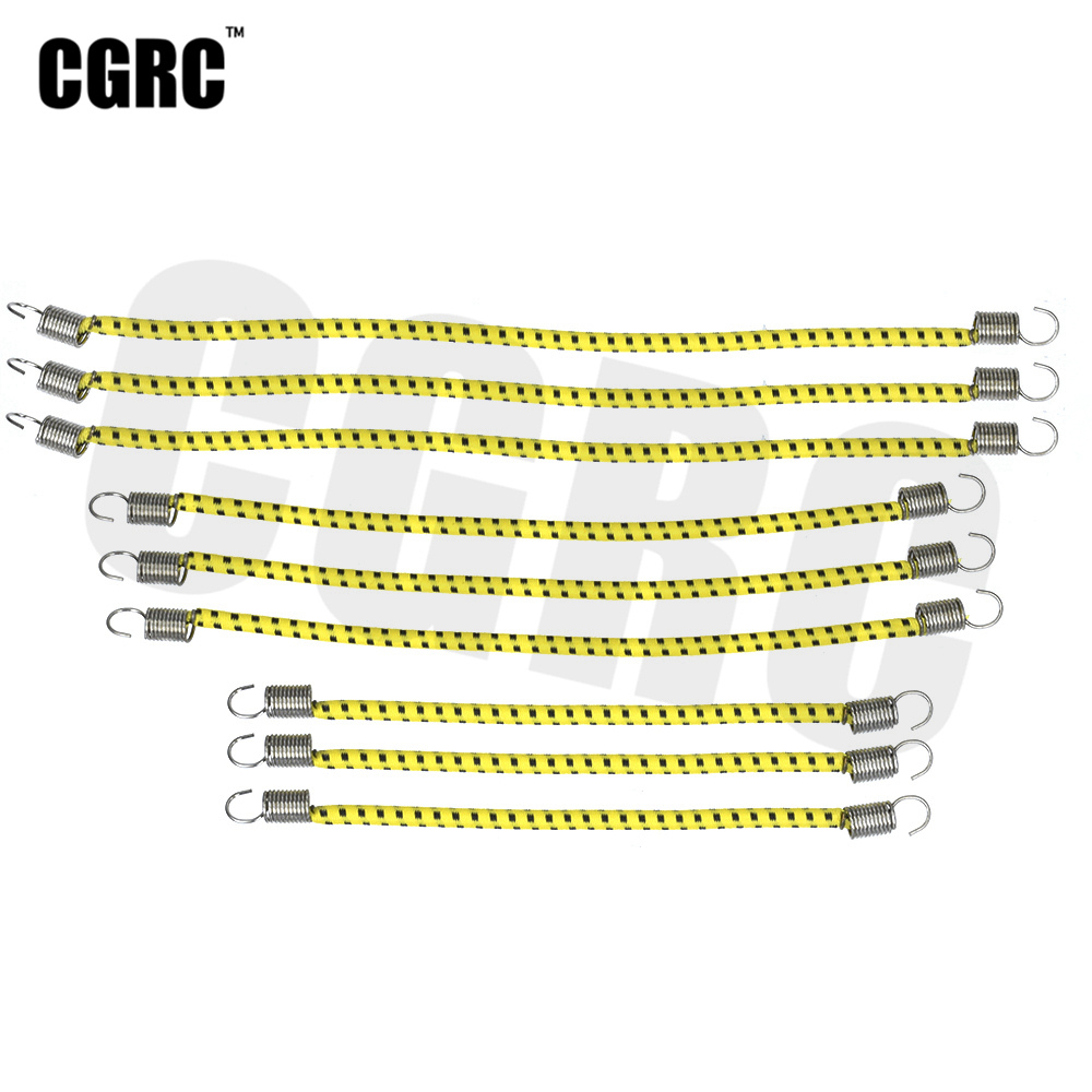 9pcs RC Car Roof Luggage Rack Nylon Elastic Rope For 1/10 RC Crawler Car TRX4 AXIAL SCX10 RC4WD D90 CC01 JIMNY VS4 TF2