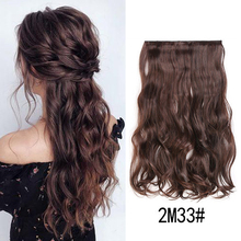 24 inch Synthetic Body wave 5 Clips in Hair Extensions Natural Hair