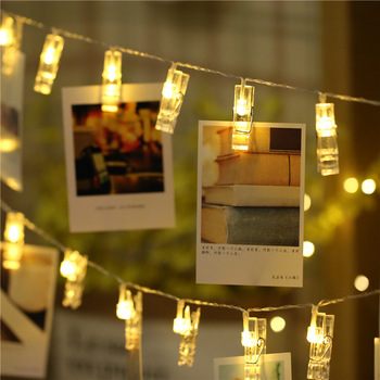 2M/3M Photo Clip LED String Lights Fairy Lights Battery Operated Garland Christmas Decorations for Home  Led Decoration Lights led string lights 2m 3m photo clip fairy lights battery operated garland home room christmas decoration party wedding xmas