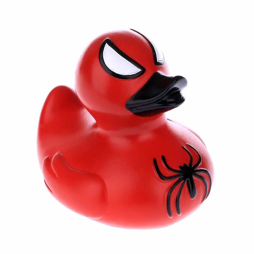 Brinquedo de banho do bebê pouco pato amarelo morcego batman hulk homem-aranha capitão da américa pato adorável brinquedos do bebê chuveiro do banheiro brinquedo pato